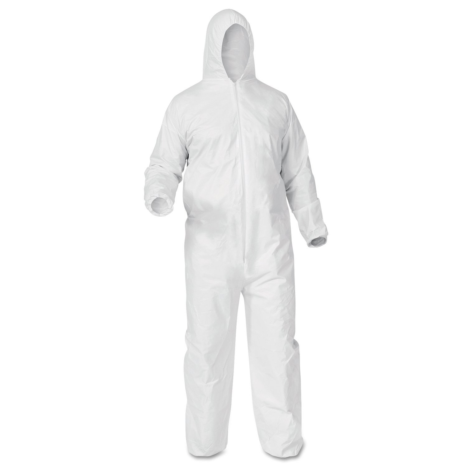 Kimberly-Clark Professional 38941 KLEENGUARD A35 Coveralls, Hood, Elastic Wrist/Ankles, White, XX-Large