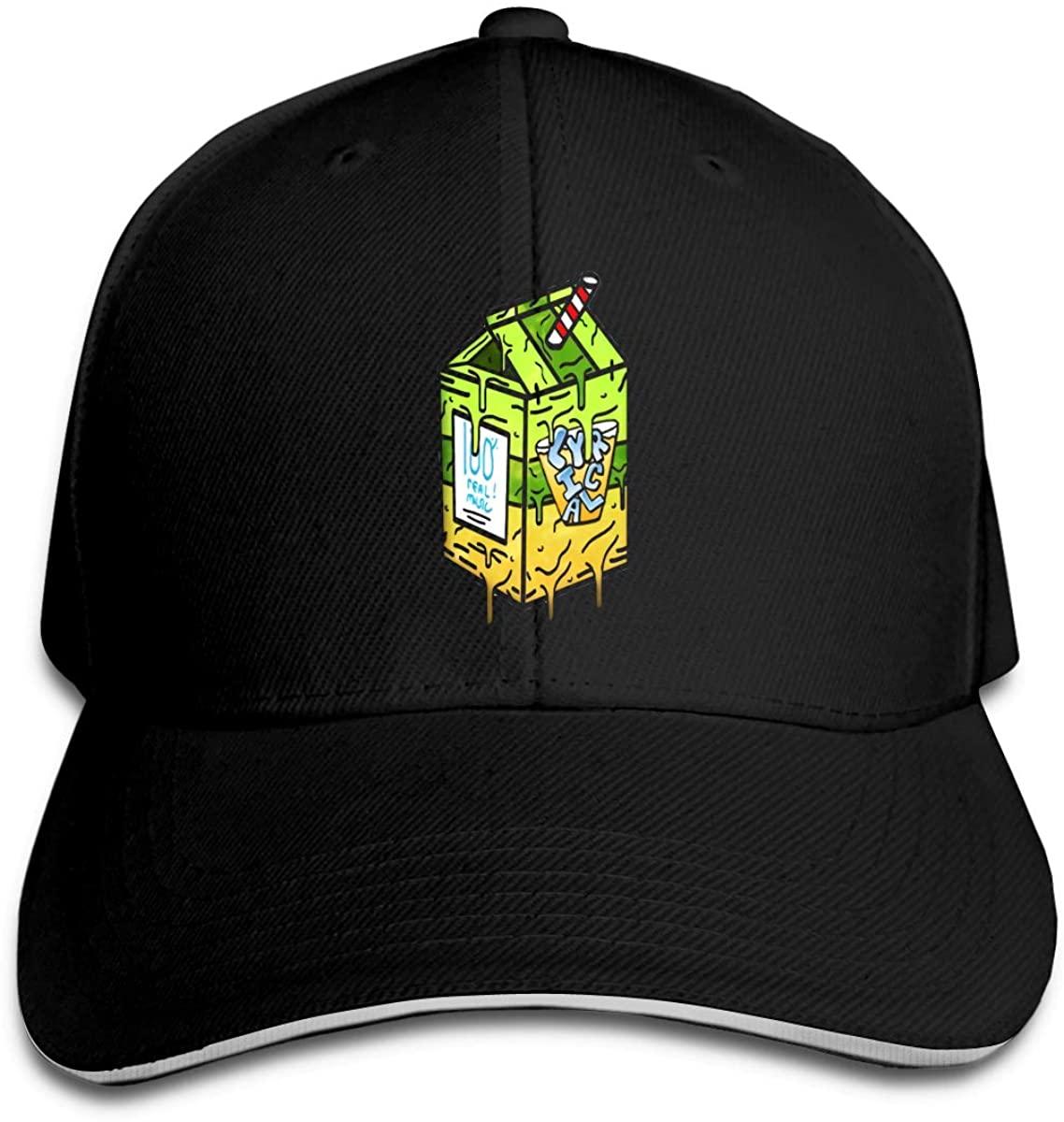 Lyrical Lemonade Hip Hop Baseball Cap Golf Trucker Baseball Cap Adjustable Peaked Sandwich Hat Black Unisex Casquette
