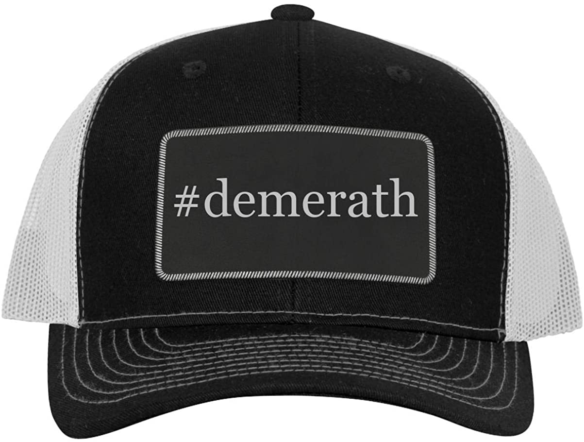 One Legging it Around #demerath - Leather Hashtag Black Patch Engraved Trucker Hat