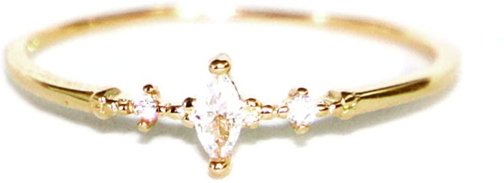 Gieschen Jewelers EDEN .925 Sterling Silver CZ Ultra Petite Engagement Ring