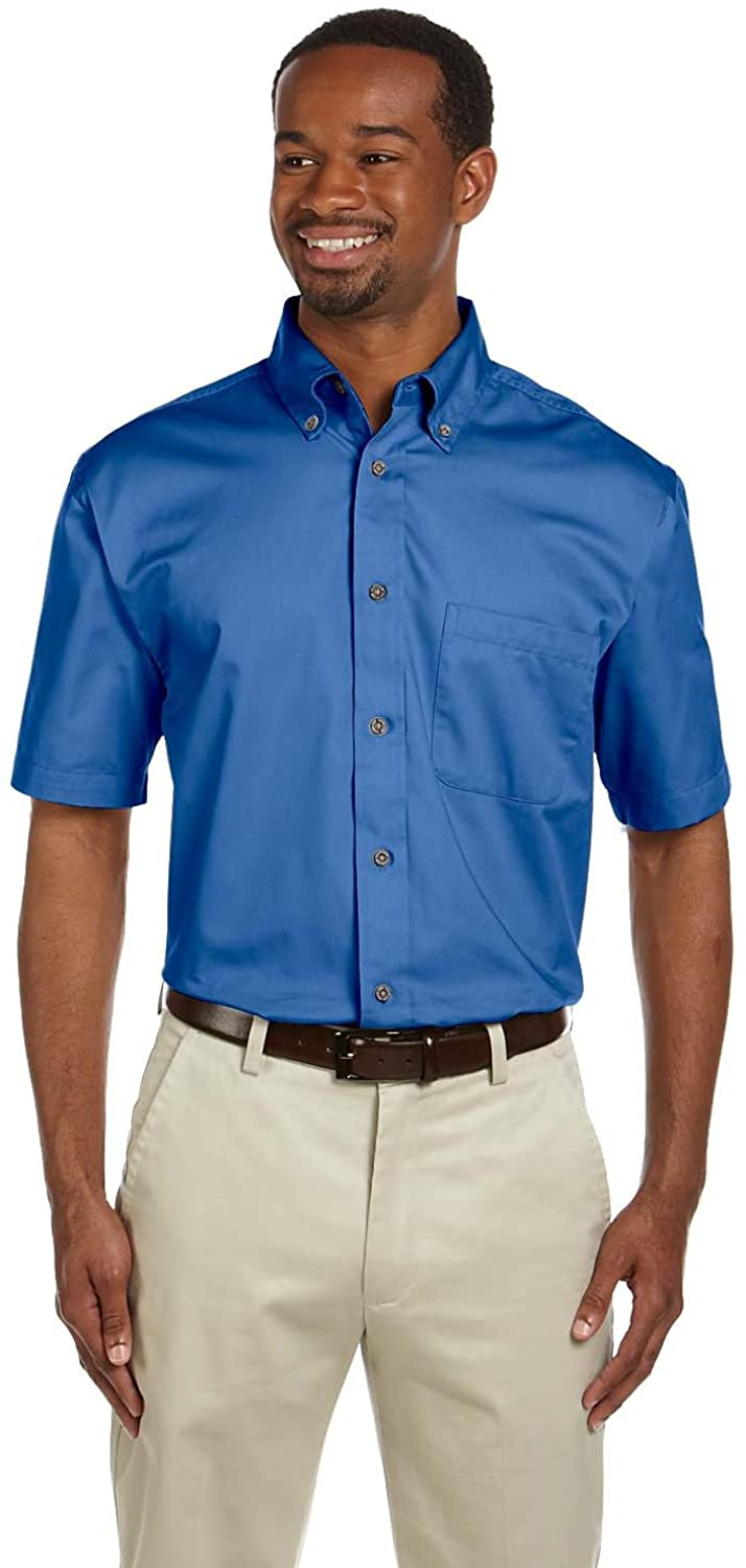 Harriton Men's Easy Blend Twill Shirt with Stain-Release