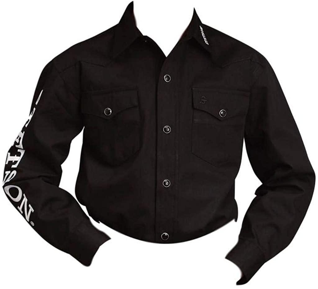 Stetson Boys' Blue Logo Wear Long Sleeve Western Shirt