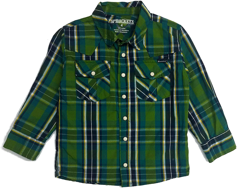 Sprockets Boys' Lumber Jack Joe Plaid Western Shirt Baby Toddler Kids
