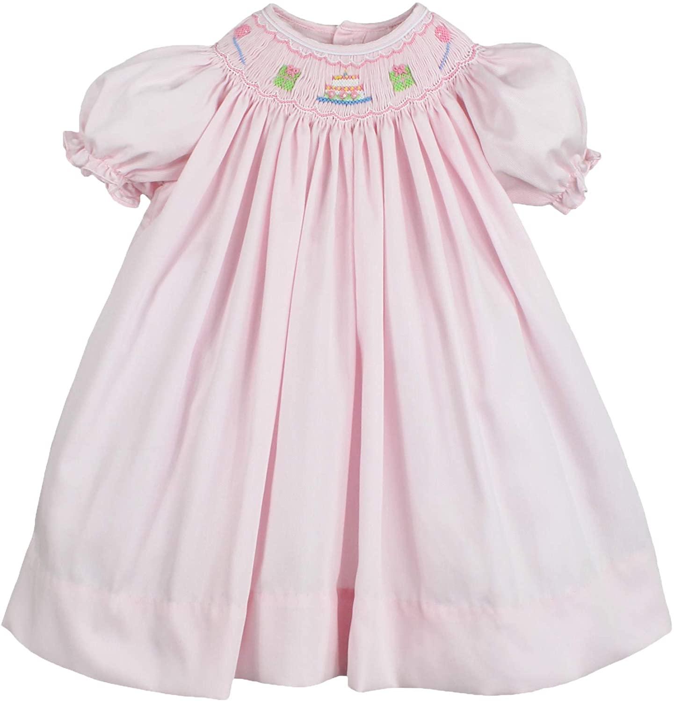 Petit Ami Baby Girls' Birthday Smocked Dress, Pink