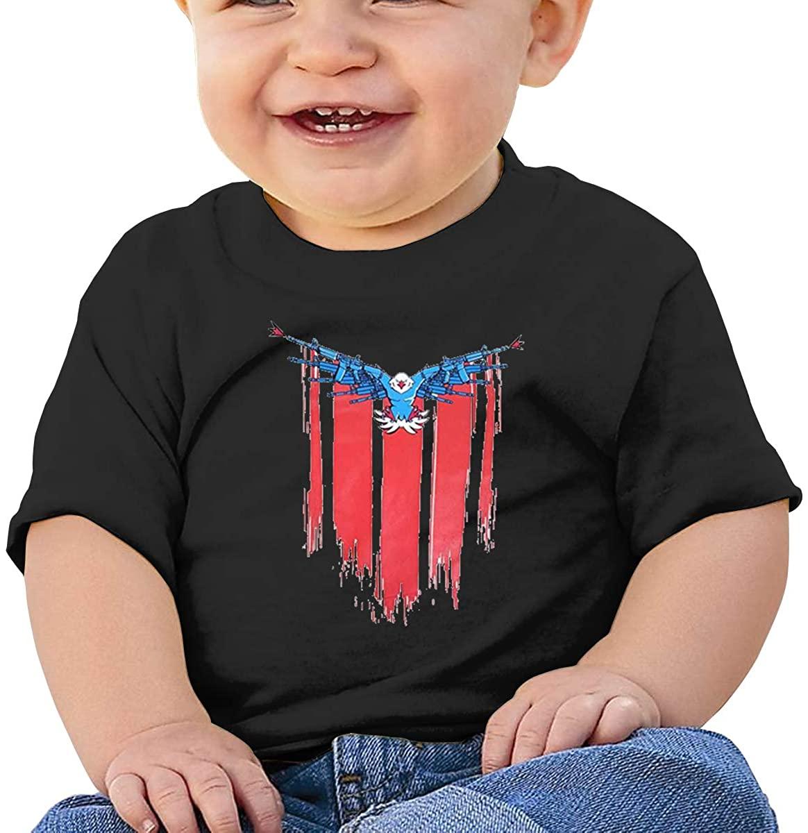 6-24 Months Boy and Girl Baby Short Sleeve T-Shirt Demolition Ranch Original Minimalist Style Black