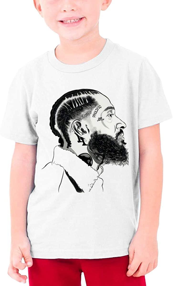 Rap Rip Nip=Sey+Hu-Ssle 3D Printed Portrait Picture Unisex Youth T-Shirt Boys Girls T-Shirt