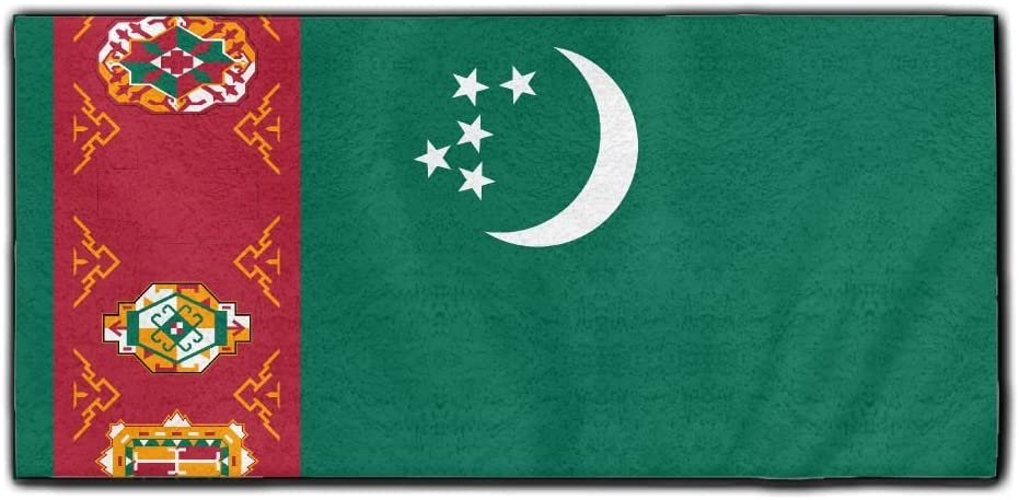 ChunLei Flag Of Turkmenistan Washcloths Face Towel Hair Care Towel Gym And Spa Towel Kitchen Dish Towel
