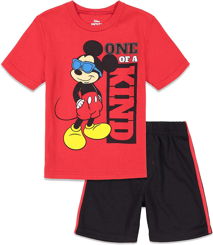 Disney Mickey Mouse Short Sleeve T-Shirt and Mesh Shorts Set