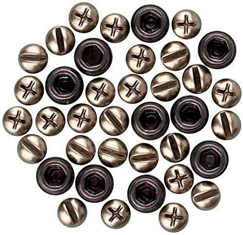 Prima Marketing Junkyard Findings Metal Trinkets, Screw Heads, 34/Pack