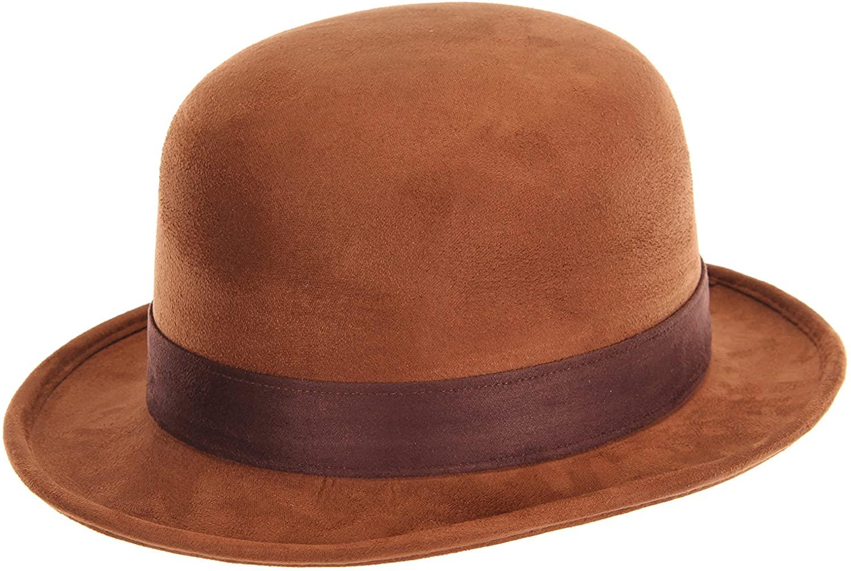 elope Brown Derby Bowler Hat