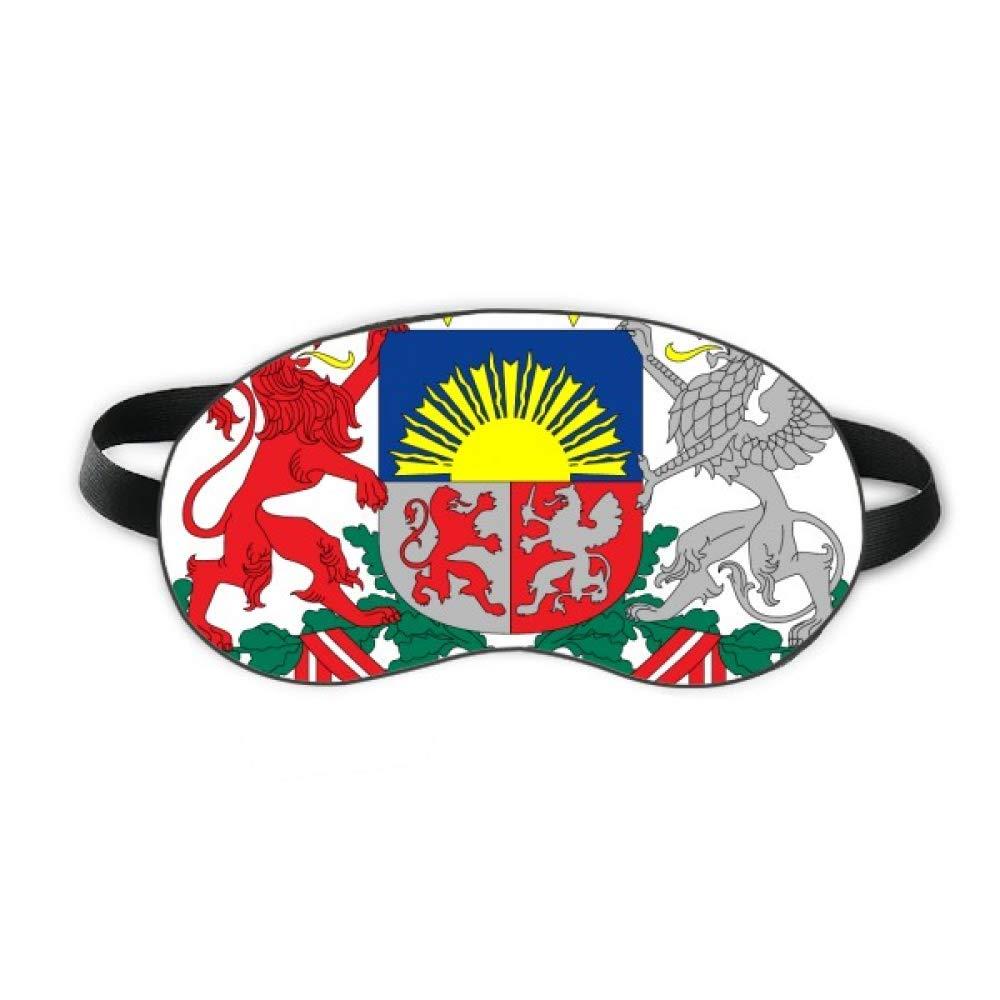 Latvia National Emblem Country Sleep Eye Shield Soft Night Blindfold Shade Cover