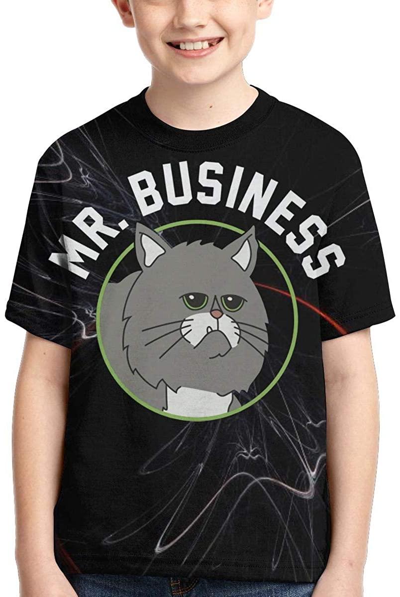 Bob's Burgers Mr. Business T Shirt Boy's Kids T-Shirt Shirt for Boy Girl Summer Tops Tee