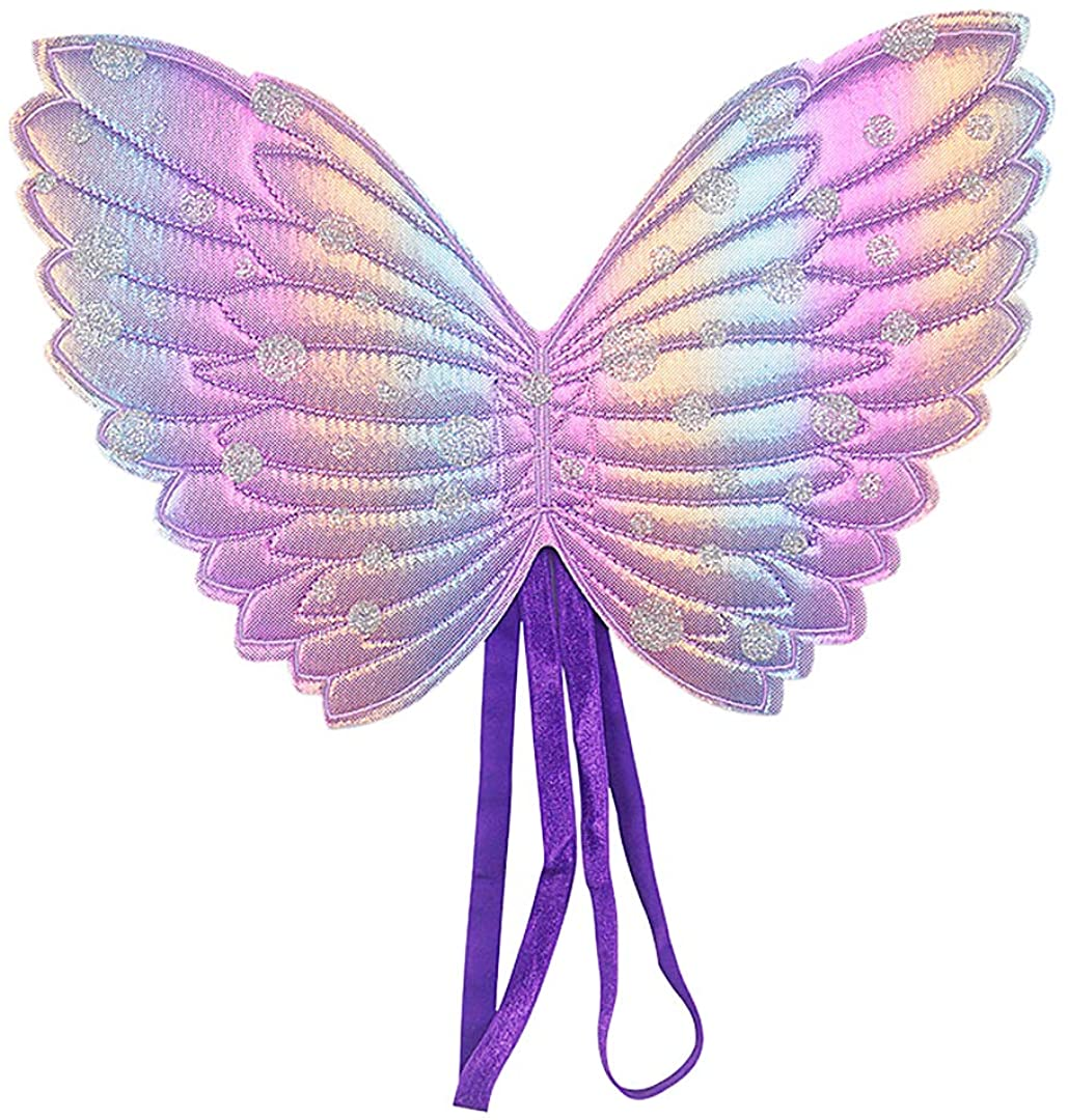 Segreto Girls Gradient Colored Butterfly Fairy Costume Wings Party Dress up Birthday Party