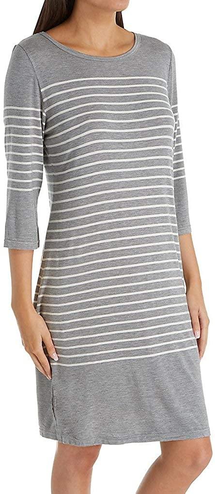 Shadowline Women's 3/4 Sleeve Short Sleepshirt