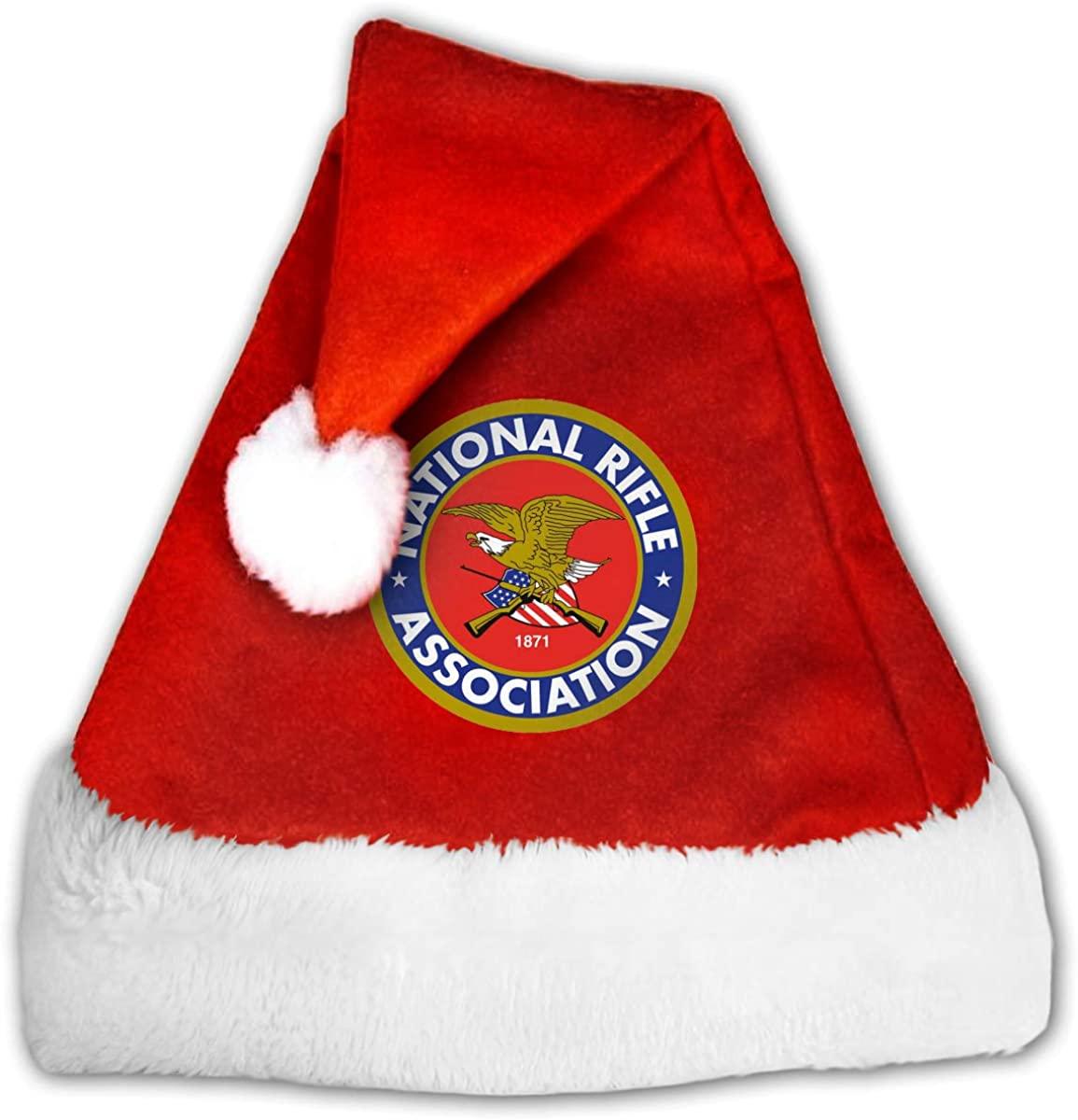 Christmas Hat NRA Gun National Rafle Association Santa Hat for Kids and Adults