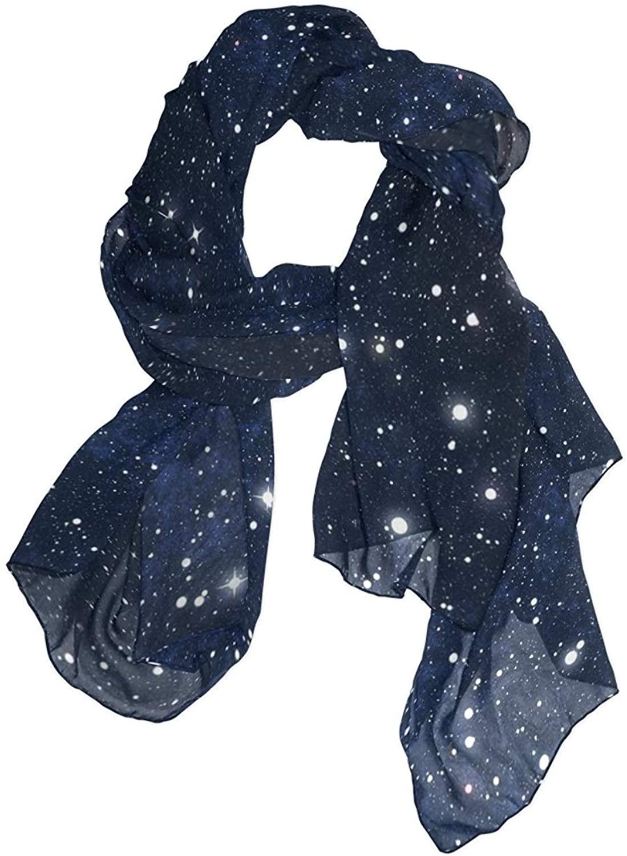 Galaxy Stars Space Starry Universe Night Sky Women Fashion Print Scarves Scarf Gorgeous Shawl