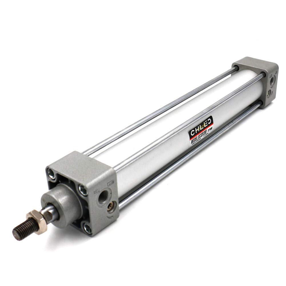 Woljay Pneumatic Air Cylinder SC 32 x 200 PT 1/8 Screwed Piston Rod Dual Action Bore: 32mm Stroke: 200mm