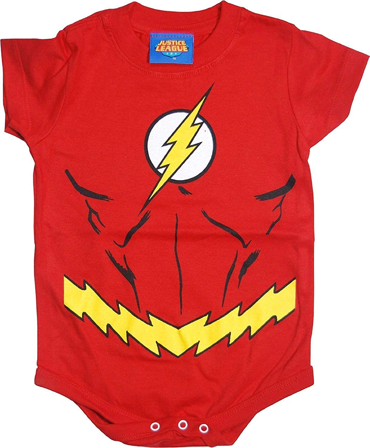 The Flash Uniform Costume Red Snapsuit Infant Onesie Baby Romper