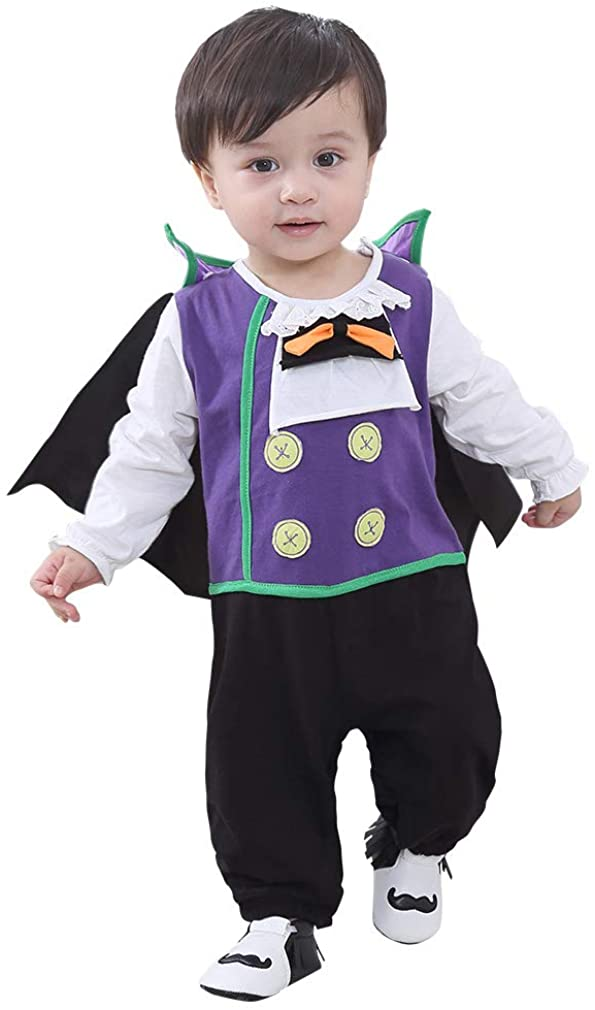 Toddler Infant Boys Girls Halloween Vampire Cosplay Costume Jumpsuit+Cloak Outfits Set