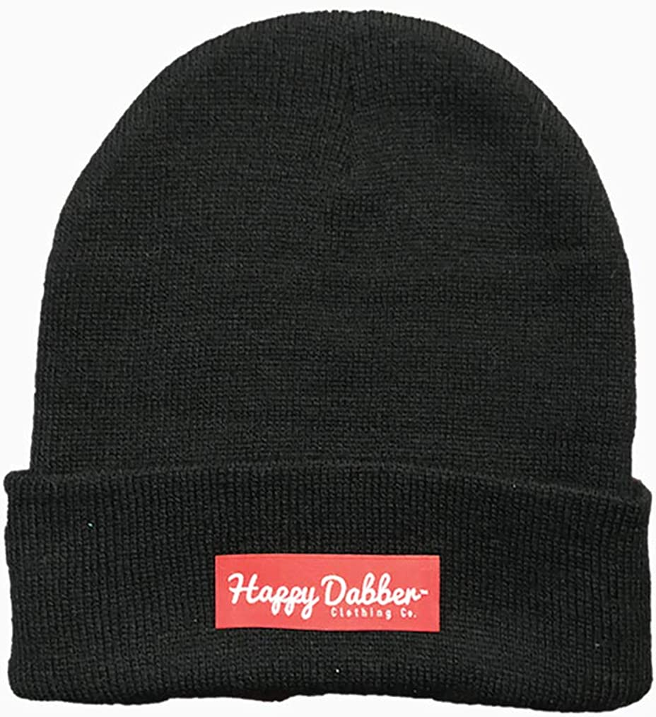 Happy Dabber Clothing Co. Black Winter Beanie Hat
