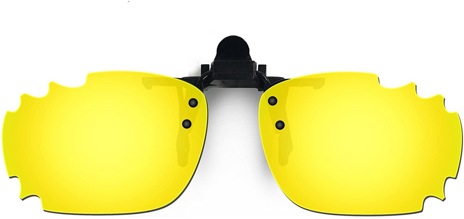 HKUCO Reinforce Sunglasses Clip 24K Gold Polarized Lenses For Myopia Frame Clip Polarized Lenses UV400 Protect
