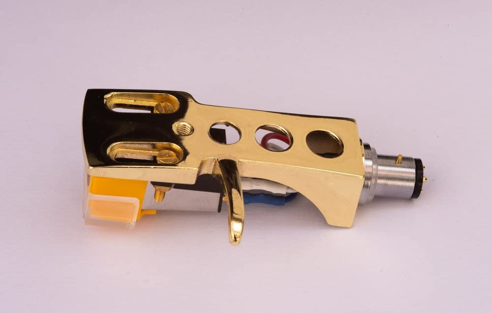 Gold plated Headshell, cartridge, needle for Optonica, Sharp RP-7205, RP-1000, RP-1414, RP-4705, RP-7100, RP-9100, RP-9705, RP-7705, MADE IN ENGLAND