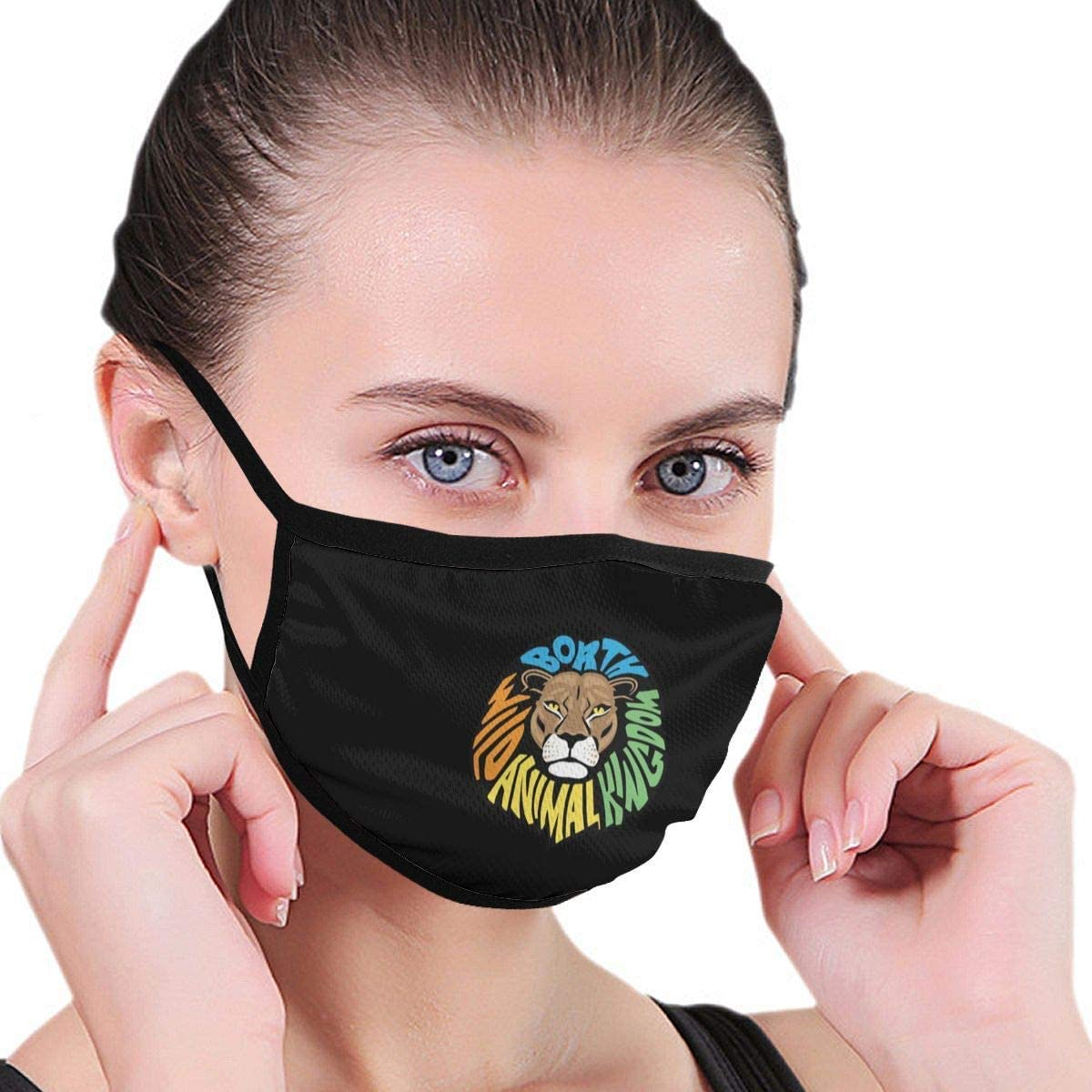 BOKUTT Dust and odor mask Wild Animal Kingdom MenS WomenS Reusable Print Fashion Washable Nose Wear For Cosplay-Washable and reusable
