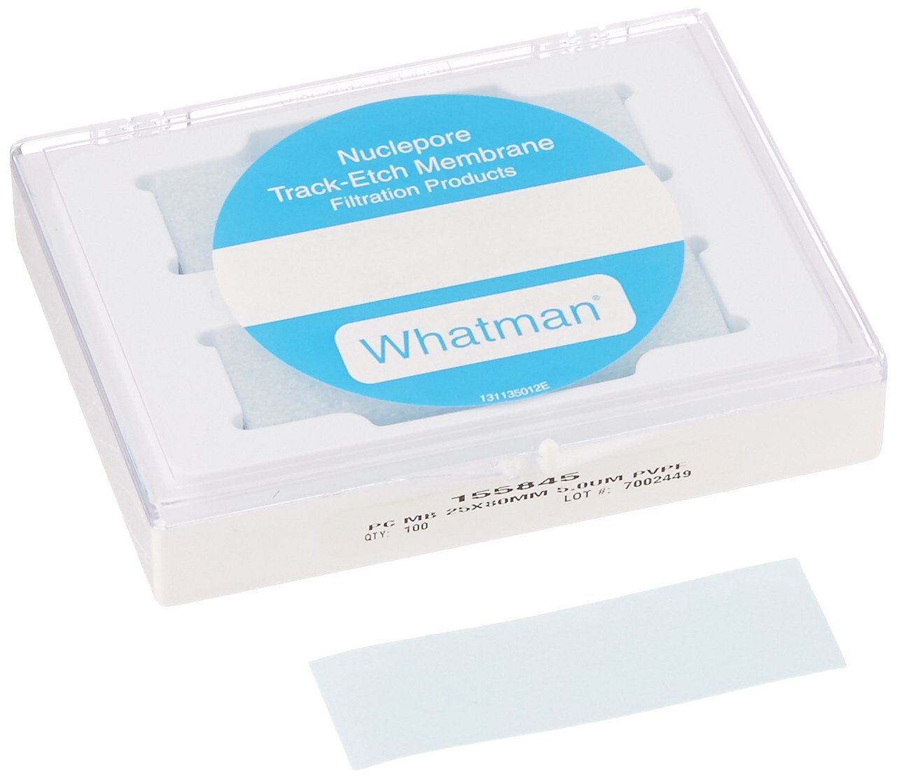 GE Whatman 155845 Polycarbonate (PVP Free) Cell Culture Track Etched Membrane, Circle, 5m Pore Size, 25mm Width x 80mm Length (Pack of 100)