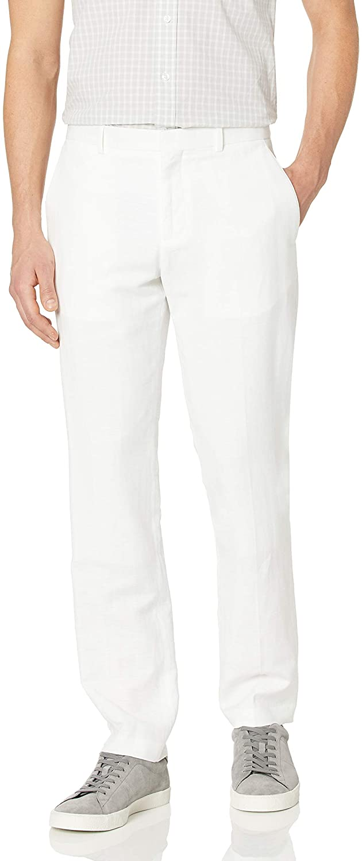 Perry Ellis Men's Slim Fit Linen Cotton End Dress Pant