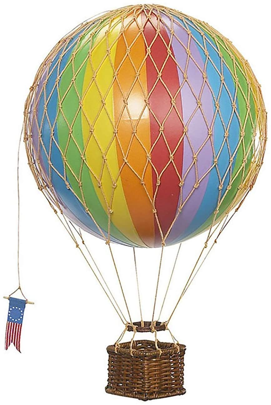 Authentic Models, Travels Light Air Balloon, Hanging Home Decor - Rainbow
