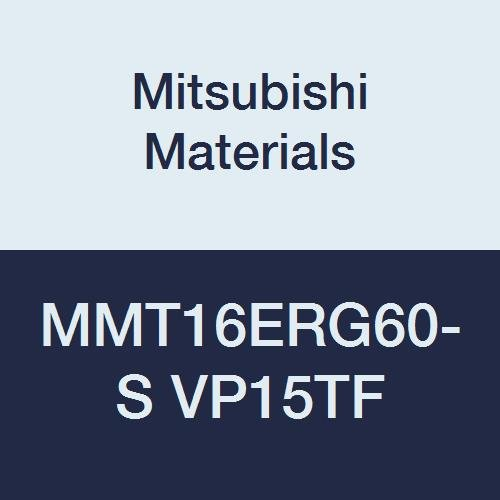 Mitsubishi Materials MMT16ERG60-S VP15TF MMT Carbide M-Class External Threading Insert with 3-D Chip Breakers, Partial Profile 60° Type, Right, 1.75 mm to 3.0 mm Pitch, 9.525 mm IC (Pack of 5)