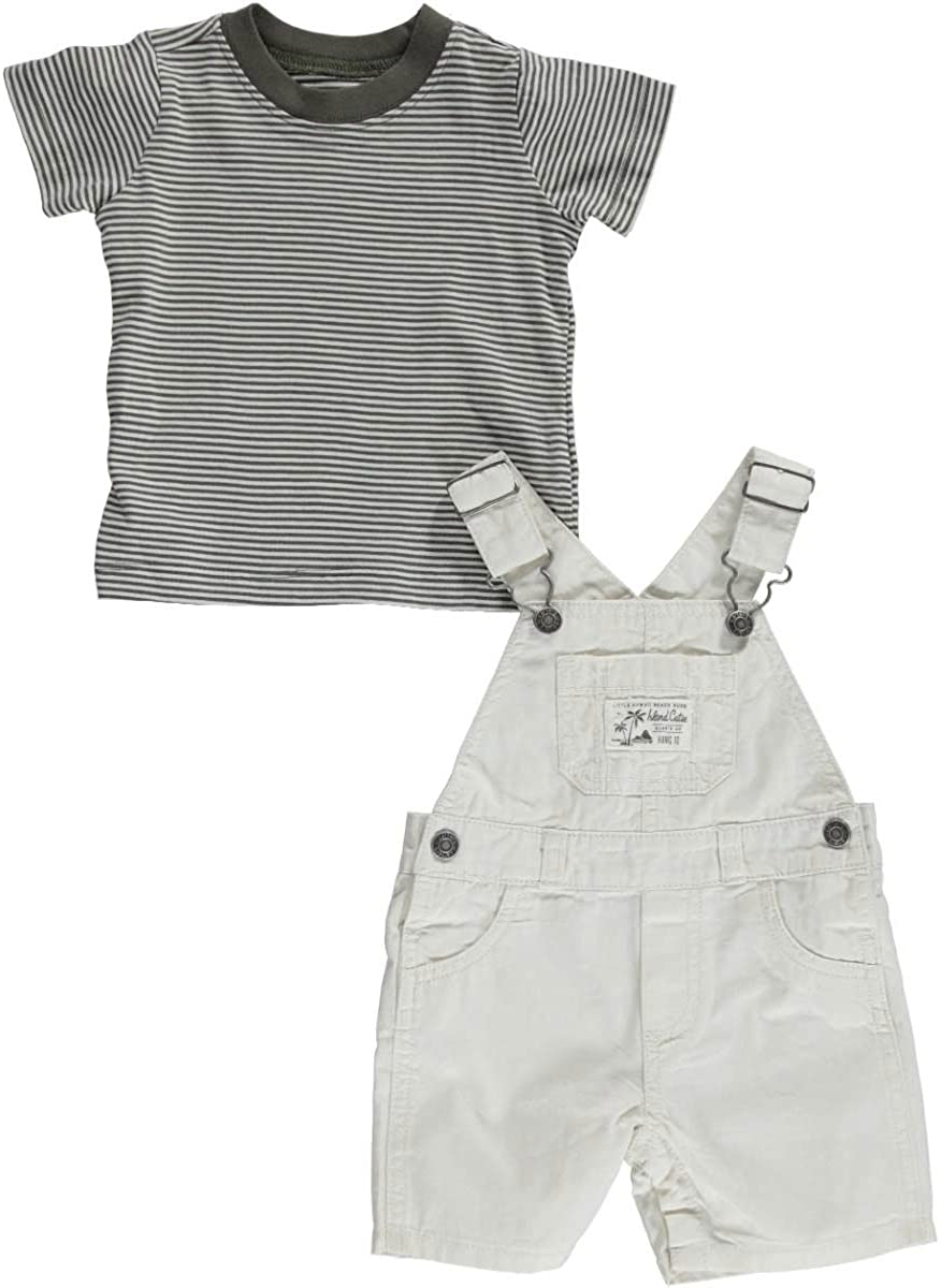 Carter's Baby Boys' 2 Piece Shortall Set (Baby) - Ivory - 3 Months