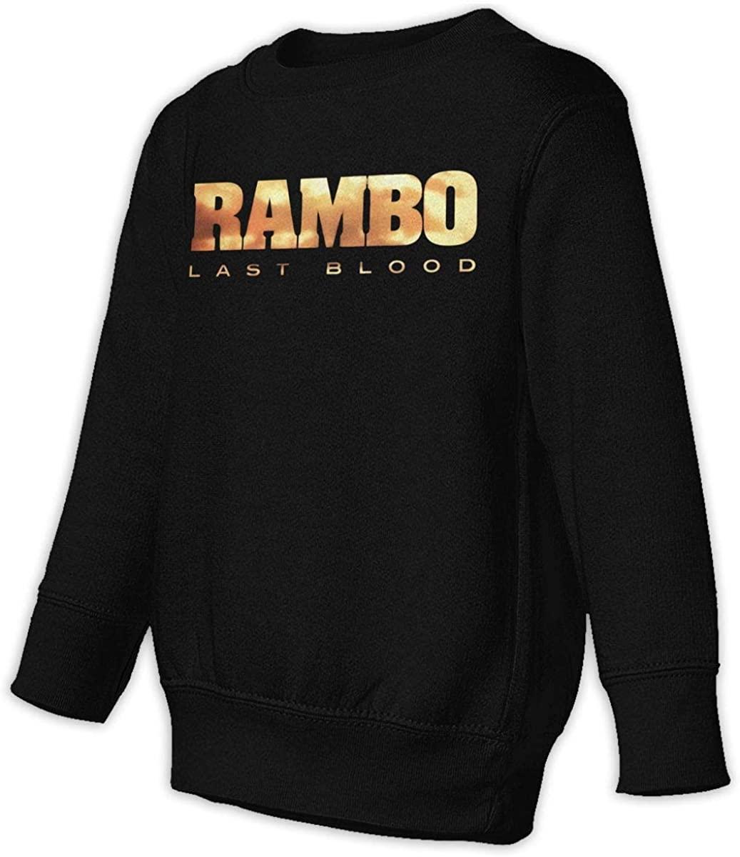 HUYAJGODGP-kiusdm Rambo Last Blood Unisex Sweatshirt Youth Boy and Girls Pullover Sweatshirt Black