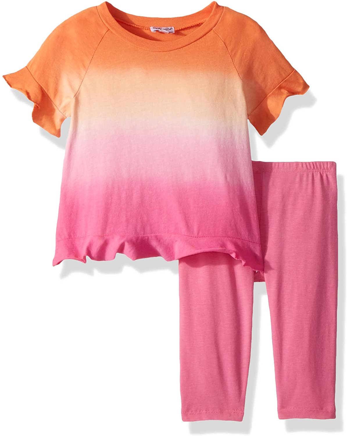 Splendid Girls' Kids and Baby Short Sleeve Top and Bottom 2 Piece Set