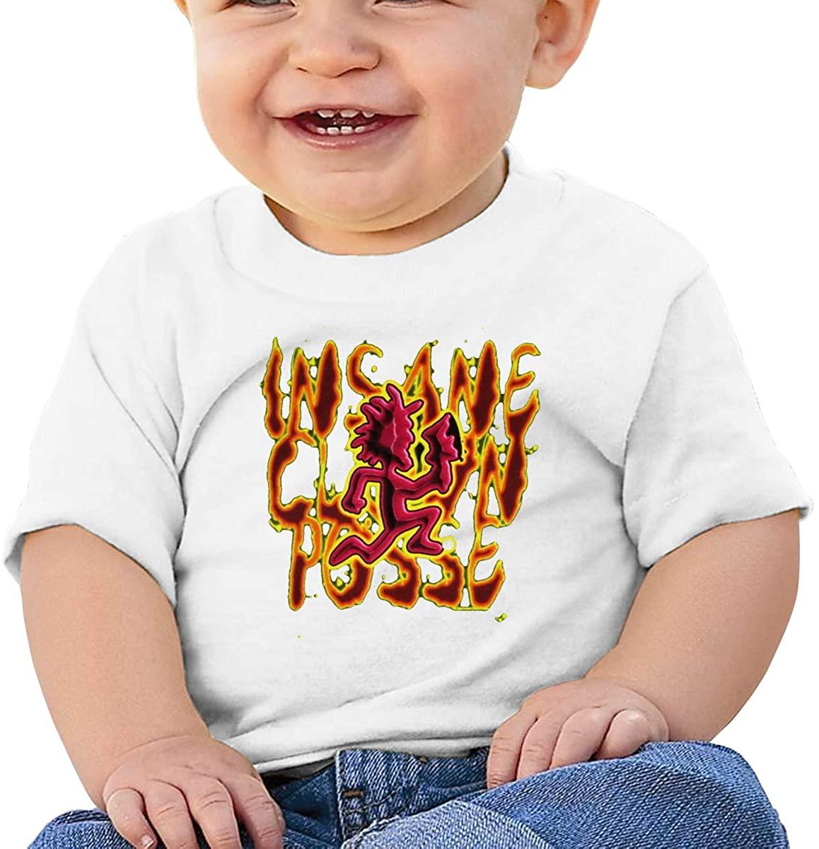6-24 Months Boy and Girl Baby Short Sleeve T-Shirt Hatchetman ICP Original Minimalist Style White