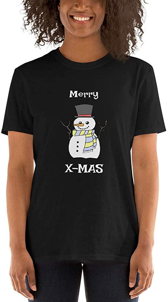 Vaansa Styles - Christmas Snowman Unisex T-Shirt