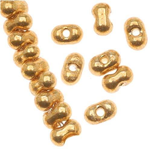 Miyuki Berry Beads Peanut-Shaped 2.5 x 4.5mm 'Duracoat Galvanized Gold' (23g)