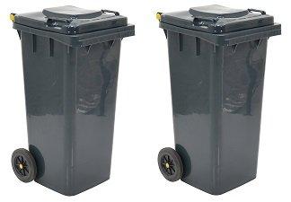 Vestil TH-32-GY Polyethylene 32-Gallon Trash Can, 22