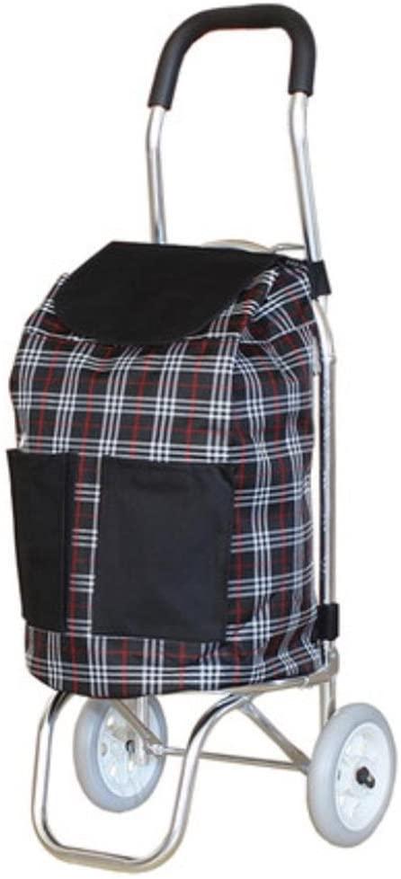 LUCKYYAN Mini Lightweight Aluminum alloy Shopping Trolley Folding 2 Wheel Shopper , a