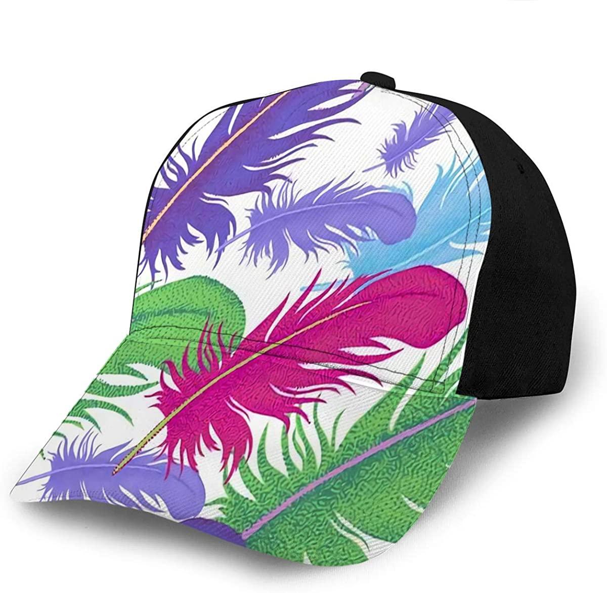 Baseball Hats Caps Bird Feathers Decorative Composition Beach Fishing Cap Snapba