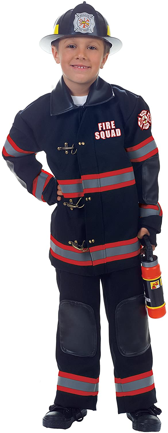 UNDERWRAPS Childrens Firefighter Costume, Black, Small