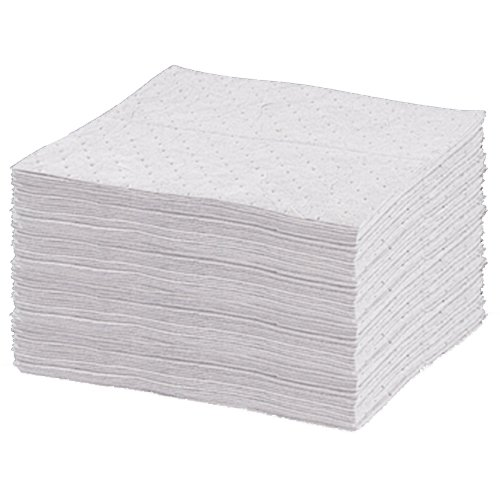 United Sorbents US-B-WH Bonded Sorbent Heavy Pad, Oil Only, White (Pack of 100)
