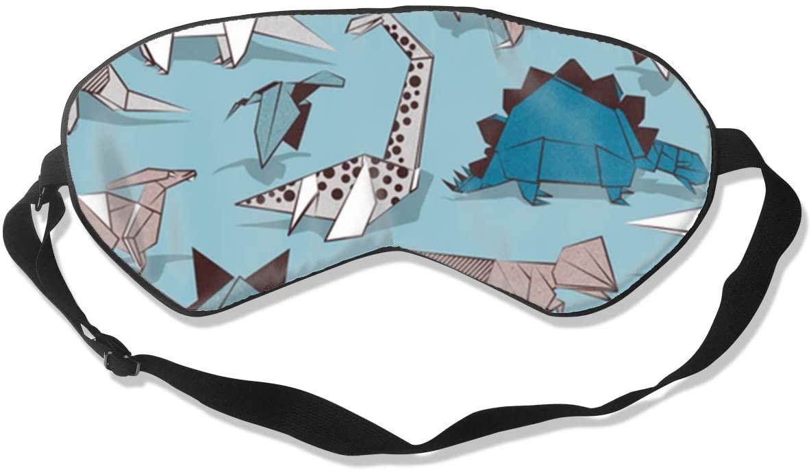 Origami Dino Friends Eye Mask Sleeping Mask 100% Double-Sided Silk Eyeshade Eye Cover