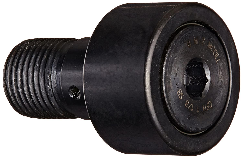 McGill CFH1 1/8SB Cam Follower, Heavy Stud, Sealed/Hex Hole, Inch, Steel, 1-1/8