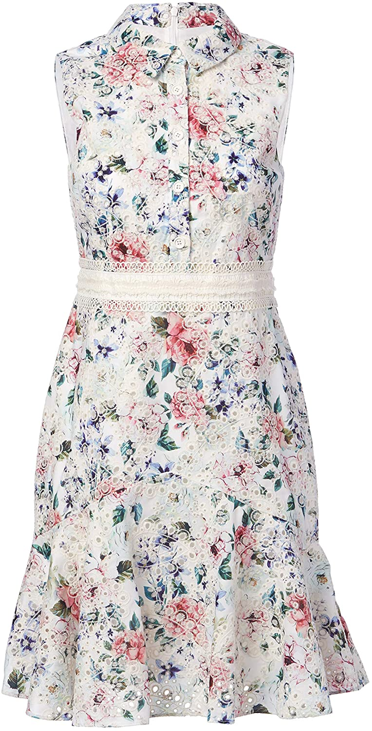 Shoshanna Womens Fit and Flare Dress