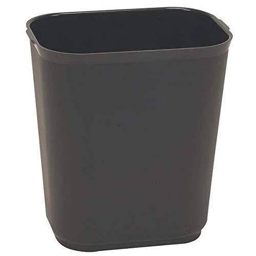 7 gal. Rectangular Black Trash Can