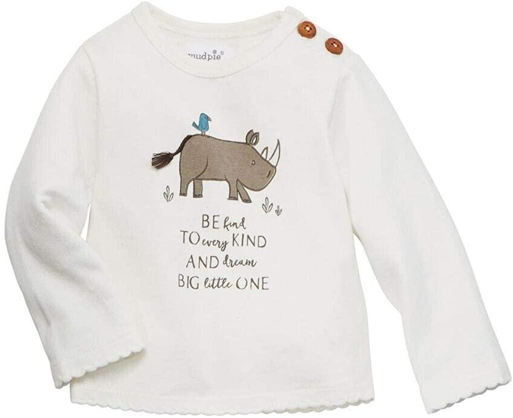 Mud Pie Safari Baby Toddler Long Sleeved Tee T-Shirt 15100072
