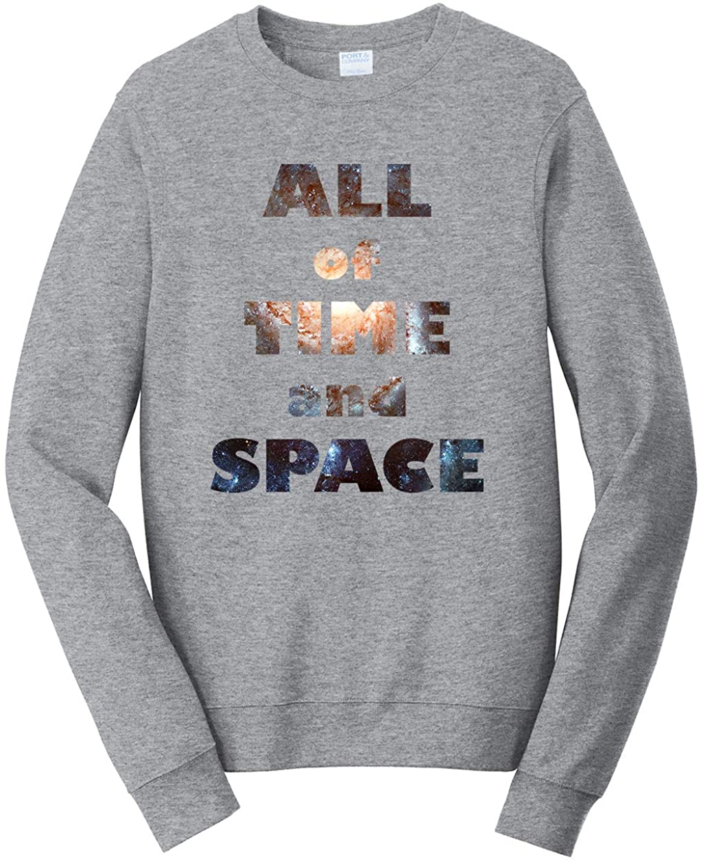 Tenacitee Unisex All of Time and Space Sweatshirt