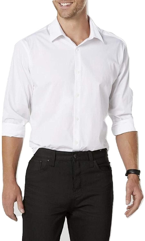 Structure Mens Poplin Modern Fit Dress Shirt Size X Large 17.5 32/33 White