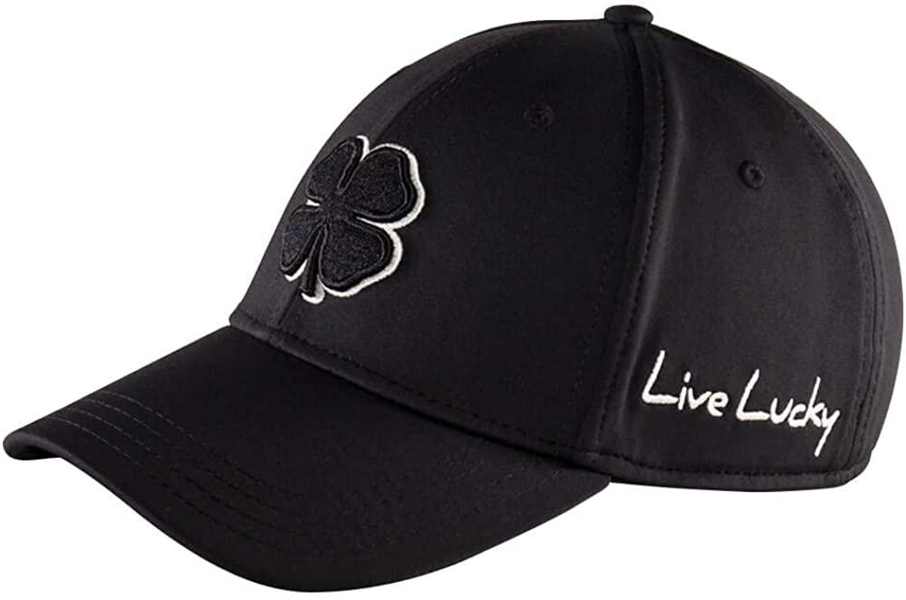 Black Clover Mens Premium Fitted #2 Cap -Black (Black, Small/Medium)